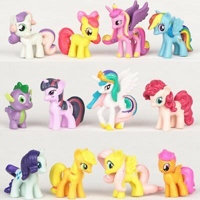 £7.99 • Buy 12 Pcs Cake Topper Pony Birthday Party Decoration PVC Action Figures Kids Gift