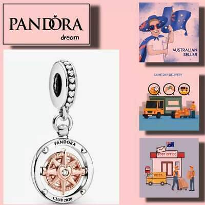 AU59.99 • Buy PANDORA Charms Limited Edition Pandora Club 2020 Compass Dangle Charm 788590C01