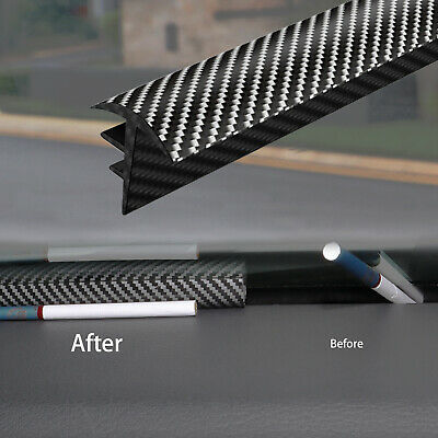 AU13.85 • Buy Carbon Fiber Sealing Strip Dashboard Soundproof Dustproof 1.6M Car Accessories