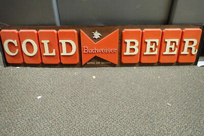 $ CDN317.91 • Buy 46  X 10  Budweiser Cold Beer Sign Anheuser Busch Bar Advertisement Vintage 1960