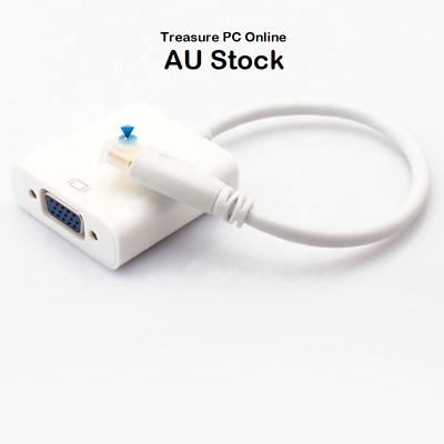 AU6.70 • Buy New HDMI Male To VGA D-Sub Female Converter Adapter White