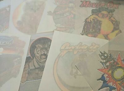 $ CDN126.55 • Buy Vintage Iron On Transfer Lot / 70s 80s T Shirt / Tv Movies Bands / Rare