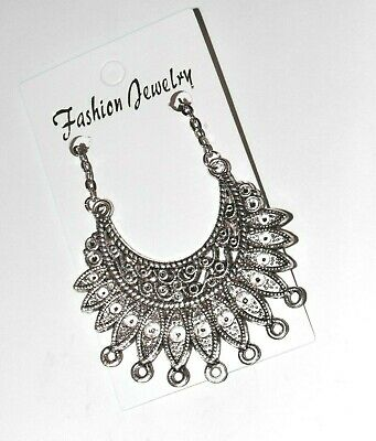 £2.99 • Buy Statement Tribal Necklace; Silver Tribal Style Fashion Jewelry Necklace