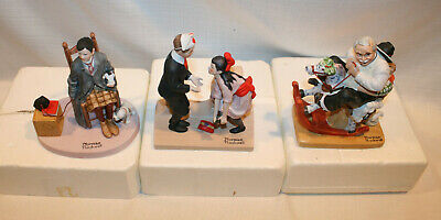 $ CDN43.94 • Buy Norman Rockwell Porcelain Figurine The Denbury Mint Lot Of 3 1980 Hand Crafted