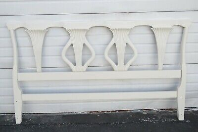 $595 • Buy French Solid Mahogany Painted King Size Headboard 1764