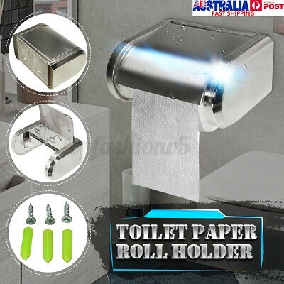 AU15.99 • Buy Stainless Wall Mounted Roll Paper Box Tissue Holder Dispensers Toilet Bathroom