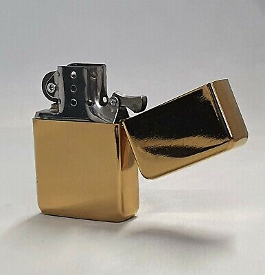 £4.49 • Buy Brass Petrol Star Lighter  Windproof Refillable Gold Birthday Fathers Day Gift *