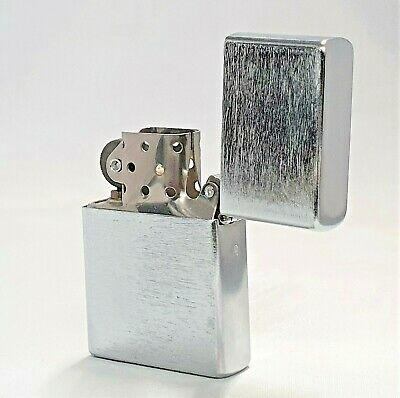 £3.99 • Buy Satin Silver Petrol Lighter Windproof Refillable Birthday Christmas Gift*