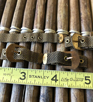 $ CDN20.31 • Buy 12 Count VINTAGE MESH BUCKLE RINGS Jewelry LOT CLOSEOUT