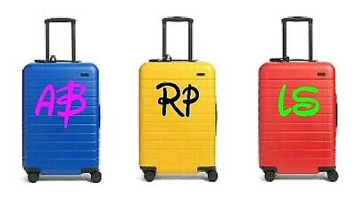 £2.49 • Buy PERSONALISED SUITCASE LUGGAGE STICKER INITIALS NAME DECAL DISNEY STYLE 250x200mm