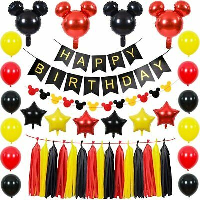 $36.97 • Buy Mickey Mouse Party Supplies Kit Mickey Mouse Theme Decorations Set With Mickey M