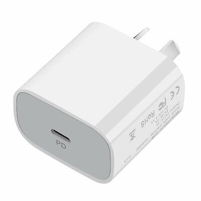 AU18.99 • Buy SAA Certificated 20W USB-C Power Adapter Fast Charger Head For IPhone 8 XS 11 12