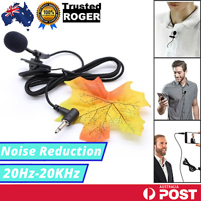 AU4.25 • Buy Clip-on Lapel Mini Lavalier Microphone Mic For IPhone SmartPhone Recording PC