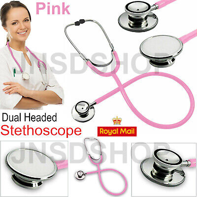 Dual Head Pro Medical EMT Stethoscope Doctor Nurse Vet Student Health Care UK • 3.79£