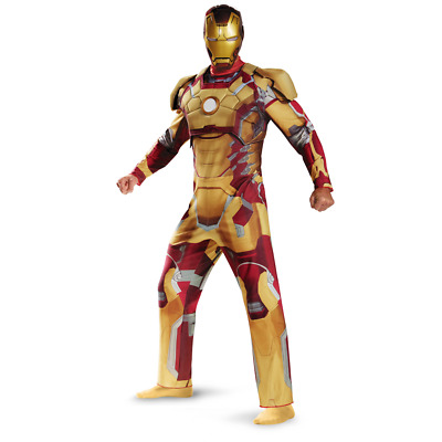 $48.88 • Buy Marvel Avengers Iron Man 3 Muscle Costume Adult New