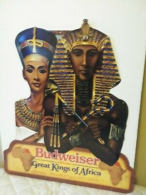 $ CDN126.60 • Buy Budweiser Great Kings Of Africa Akhenaton-Pharaoh Of Egypt Metal Sign