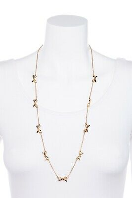 $ CDN41.87 • Buy KATE SPADE Gold Plated Bow Pendant Necklace Lobster Clasp Jewelry Chain Long