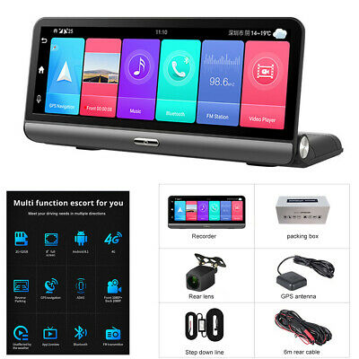 AU240.71 • Buy 1080P Android 8.1 Car DVR Dash Cam Video Recorder Camera Front And Rear GPS ADAS