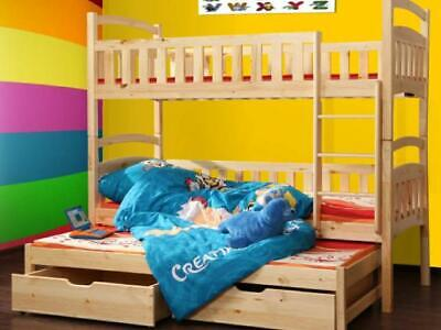 3 Bed Double Bunk Bed Loft Bed Bunk Bed Double Storage Items New • 370.85£