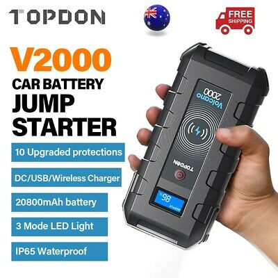 AU139 • Buy Portable V2000 Battery Booster Pack Charger Power Jump Starter Box Heavy Duty
