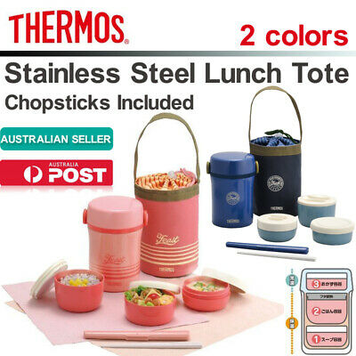 AU78.58 • Buy THERMOS Stainless Steel Lunch Tote JBC-801 Lunch Jar With Chopstick & Pouch Hot