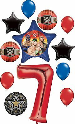 WWE Party Supplies 7th Birthday Balloon Bouquet Decorations • 28.29£