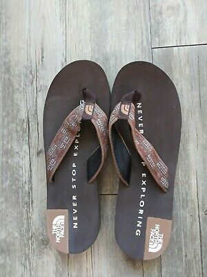 THE NORTH FACE Base Camp Brown Flip Flop Thong Sandals-Sz-12 • 17.87£