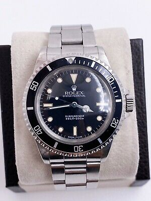 $ CDN15179.66 • Buy VINTAGE Rolex Submariner 5513 Black Dial Stainless Steel UNPOLISHED