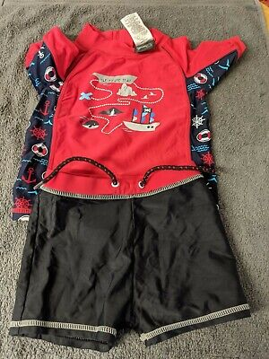 £3 • Buy Boys UV SUN PROTECTION Swimming Top & Shorts~Pirates~Age 12-18 Months
