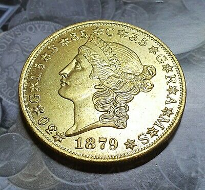 Restrike 1879 United States Of America $20 Dollar Coin • 8.99£