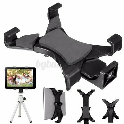 AU11.99 • Buy For IPad 7 ~10.1  Tablet Clamp Stand Holder Mount Tripod W/ 1/4 Thread Adapter