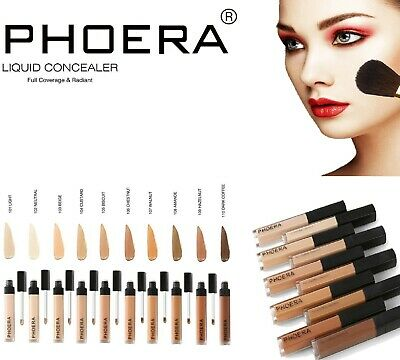 Phoera® Concealer Foundation Full Coverage Conceal Matte Brighten Long Lasting • 3.50£