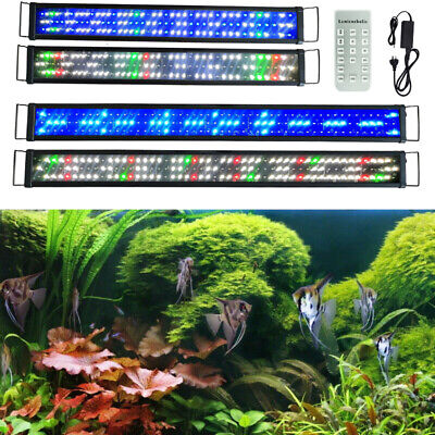 AU74.33 • Buy Aquarium LED Lighting 2ft/3ft/4ft/5ft/6ft Marine Aqua Fish Tank Light RF Control
