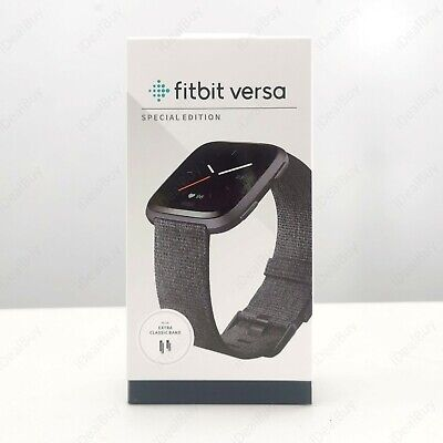$ CDN89.32 • Buy Fitbit Versa FB505 Smart Watch Special Edition Fitness Tracker Crown Replaced