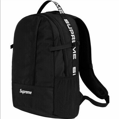 $ CDN148.78 • Buy Supreme SS18 Black Canvas White Box Logo Zip Around Classic Backpack Bag