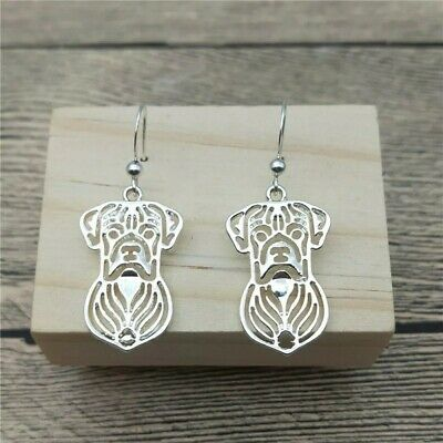 £2.99 • Buy Stunning Pair Silver Tone Boxer Dog Earrings. Must See...