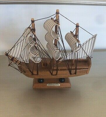 £18 • Buy  Wooden Sailing Ship Model On Stand. - Confection