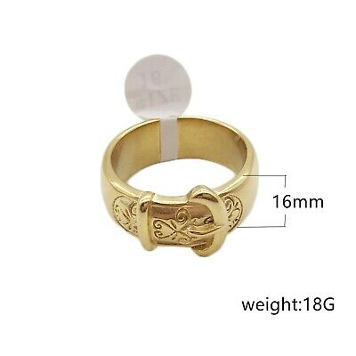 £21.99 • Buy BUCKLE 18K Gold Plated Ring On Precious Metal - All Sizes Available