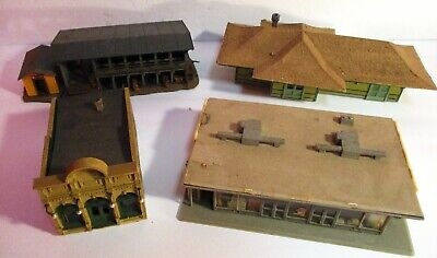 $ CDN49.19 • Buy (4) Vintage HO TRAIN BUILDING MIXED DESIGN LOT ~ For Lionel-Bachmann + ~NICE!