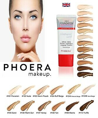 Phoera Natural Foundation Velvet  Flawless Full Coverage Oil Free  Matte Liquid  • 3.99£