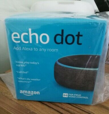 AU58 • Buy BRAND NEW Sealed Amazon Echo Dot - 3rd Gen Smart Speaker With Alexa - Charcoal