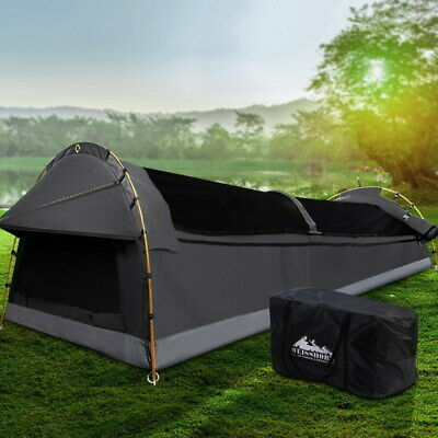 AU189.90 • Buy Weisshorn Camping Swags King Single Swag Canvas Tent Deluxe Dark Grey Large