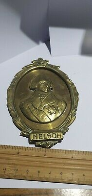 £145 • Buy Admiral Lord Nelson Memorial Wall Plaque Brass 19th Century