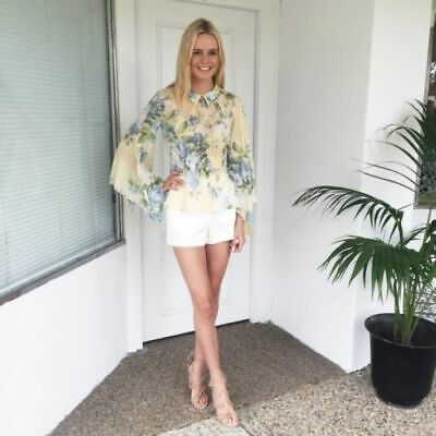 AU125 • Buy ALICE MCCALL  Love On Top  Pretty Floral Print Blouse Shirt Top 10