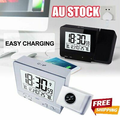 AU24.96 • Buy Smart Digital LED Projection Alarm Clock Time Temperature Projector LCD Display