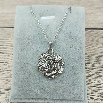 £2.99 • Buy Stunning Silver Tone Pug Dog Necklace.With Organza Bag