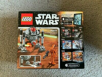 Lego 75077 Star Wars Series 2 Microfighter Homing Spider Droid • 20£