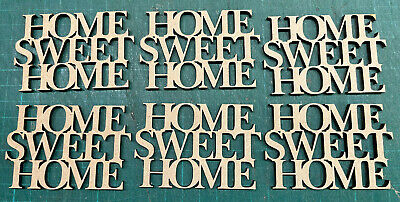 £3.50 • Buy Mdf  Wooden 6x Small Home Sweet Home /shape /  Sign / Stencil