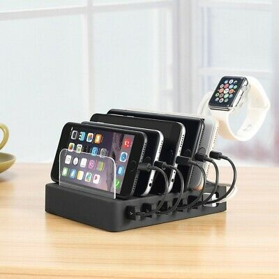 AU61.91 • Buy Quick Charger 6-Port USB Charging Station Dock Charger Hub Fast Charging Dock