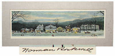 $ CDN2506.40 • Buy Norman Rockwell Signed Print Of Christmas Main Street